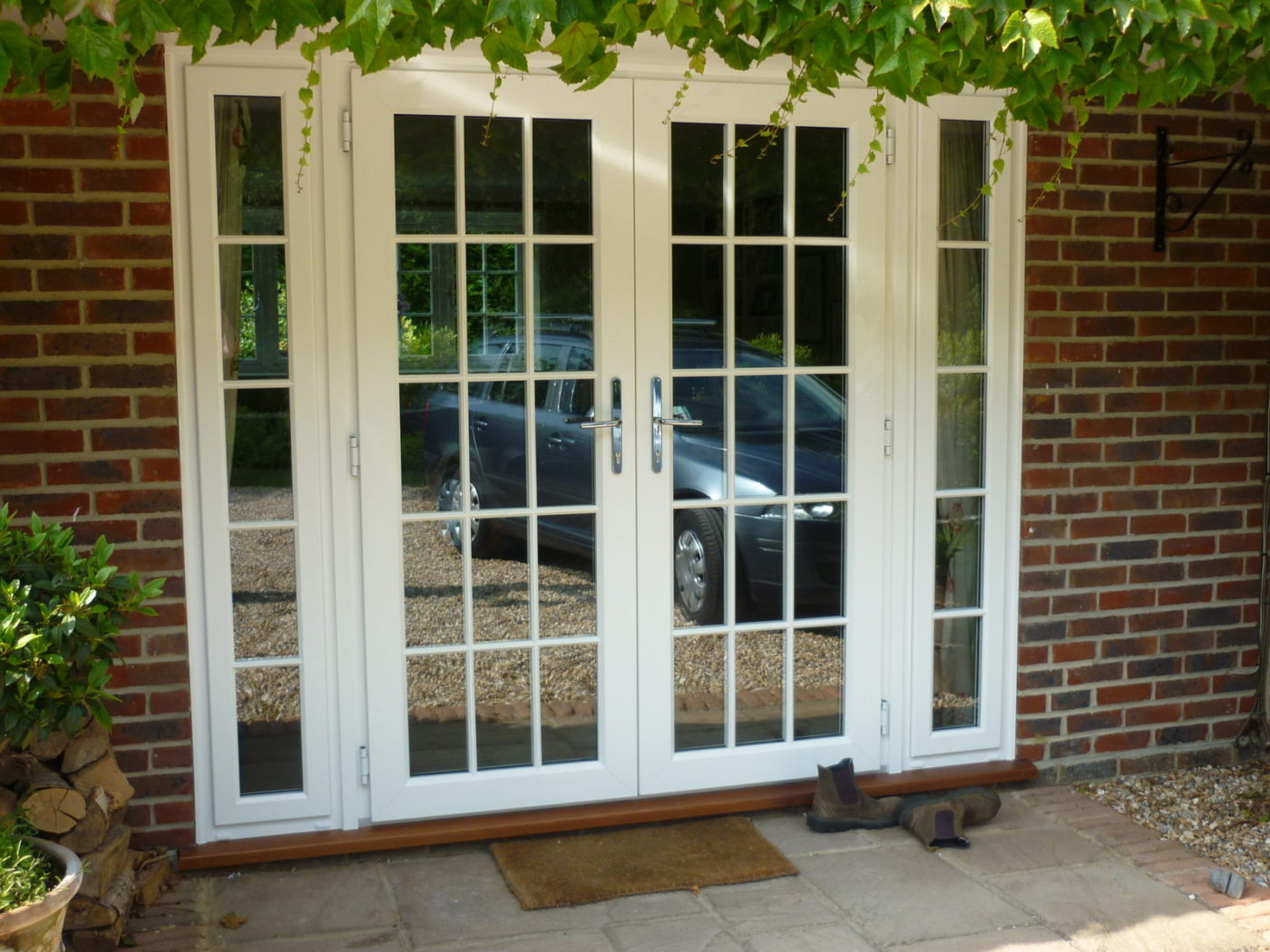 Timber b p windows for French door panels