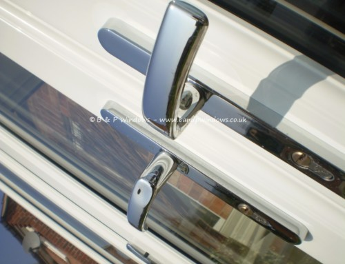 French doors chrome handles