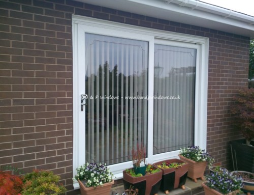 White patio slider with lead boarder